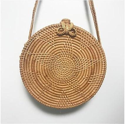 a1b5b536ce90 Amazon.com: Bohemian Summer Vintage Rattan Bag Handmade Crossbody ...