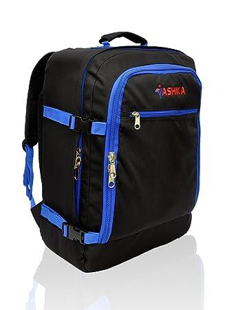 Mochila Vaska aprobada para vuelo. Bolsa de mano Massive de 44 litros Maleta de Viaje de Mano 55x40x20 cm - Azul Marino: Amazon.es: Equipaje