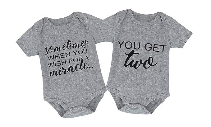 1c76dc74ecd6 Amazon.com  Mini honey 2Pcs Infant Twins Baby Boys Girls Short ...