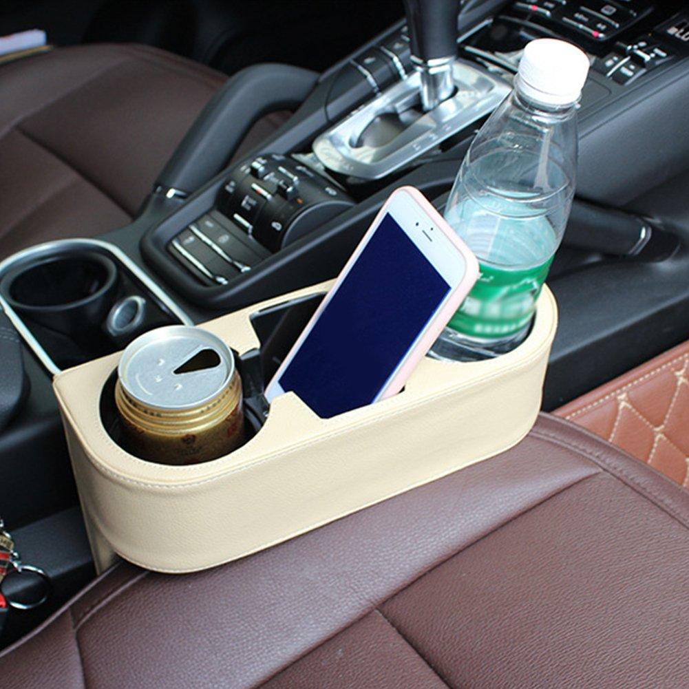 Bloomma Portaoggetti per seggiolino auto Supporto per tazza portabiciclette Portabottiglie per alimenti Portabottiglie con supporto in pelle