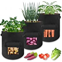 3 pcs Potato Grow Bag, 7 Gallon Aeration Waterproof Fabric Sweet Potato Planter, Vegetable Peanut Growing Box Bucket Pot…
