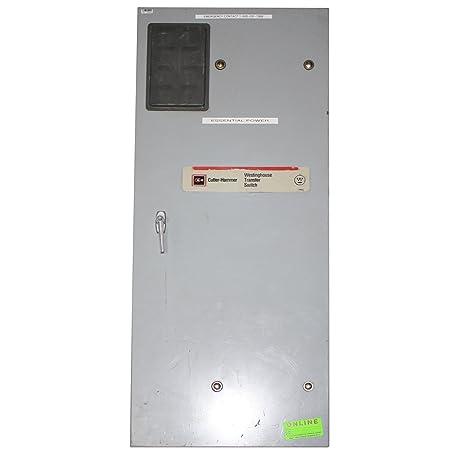 cutler hammer westinghouse mtvxkda40300esu 600v 300a manual transfer rh amazon com Transfer Switches for Portable Generators Eaton Generator Transfer Switch