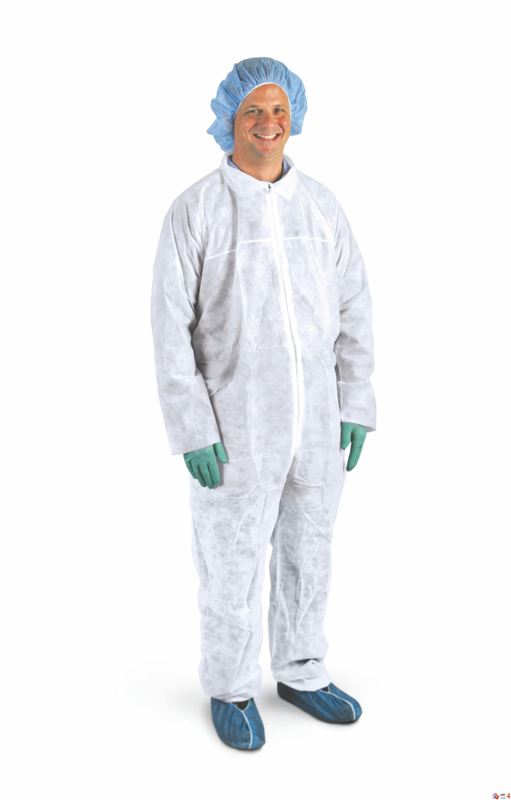 Medline CRI3000 Medium Weight Spun-Bound Coveralls, Open Wrists and Ankles, X-Large (Pack of 25)