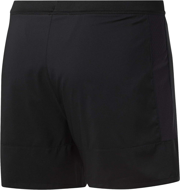 Negro S Hombre Reebok Re 5 Inch Short Pantal/ón Corto
