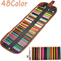 Fdit 48 Color Lápiz Assorted Professional Arte Lápices Colorante Acuarela Pintar