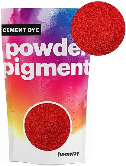 Hemway Cement Dye Powder Pigment Concrete Color Render Mortar Pointing  Powdered Brick Toner Plaster (50g / 1.75oz, Metallic Postbox Red)