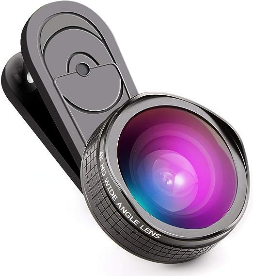 XiHone 4K HD No Distortion 0.6X Wide Angle Lens & 15x Macro Lens 2 in