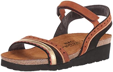9d2a75264917 NAOT Women s Beverly Sandal Black Velvet Hawaiian Brown Nubuck Gold lthr
