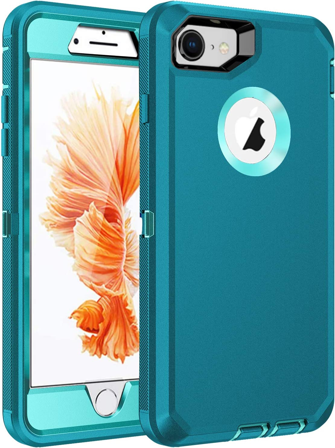 RegSun for iPhone 6s Plus Case,iPhone 6 Plus Case,Built-in Screen Protector, Shockproof 3-Layer Full Body Protection Rugged Heavy Duty High Impact Hard Cover Case for iPhone 6s Plus 5.5 inch,Blue