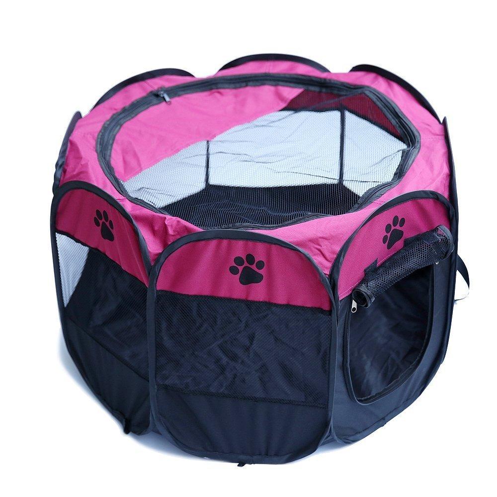 Miniparcs pour animaux domestiques, intérieur ou extérieur 1 sac de transport. Facile à installer, pliant, portable et compact. myroin