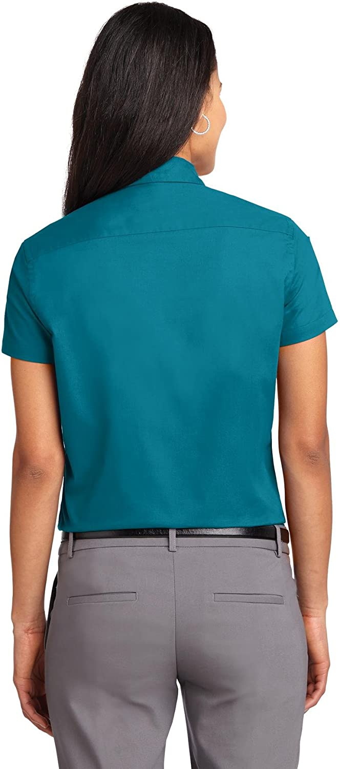 Port Authority Ladies Short Sleeve Easy Care Shirt L508 Teal Green