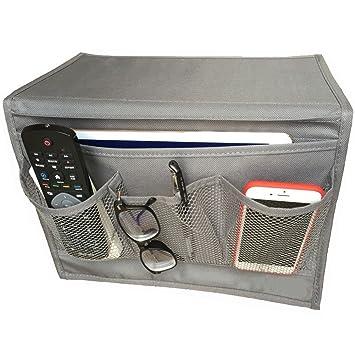 Bedside Storage Organizer, Bedside Caddy, Table Cabinet Storage Organizer,  Gray