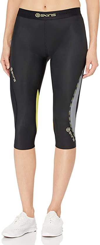 Skins DNAmic Womens Compression 3//4 Tights Black