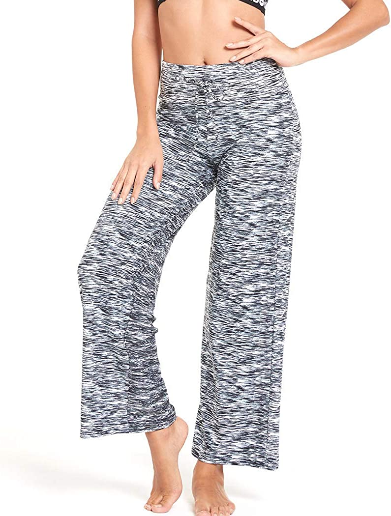 HIGHDAYS Pajama Pants for Women Floral Print Palazzo Pants Comfy Casual Lounge Pants with Wide Leg /& Drawstring