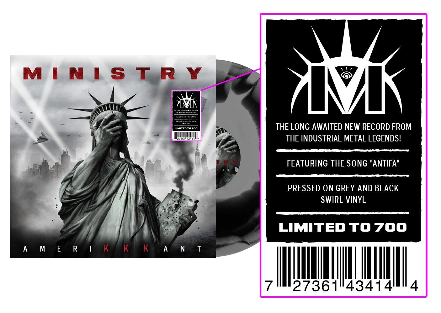 Vinilo : Ministry - Amerikkkant (Black, Gray)