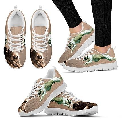 7db6ae0d1710 Petz-Plus Whippet Dog Print Custom Running Tennis Shoes Sneakers - Women