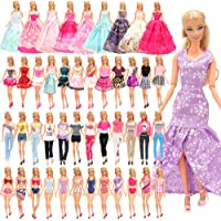 Barwa 21 Accessories Selected Randomly for 11.5 Inch 30 cm Dolls: 5 Fashion Dresses + 5 Clothes + 5 PCS Pants + 3…