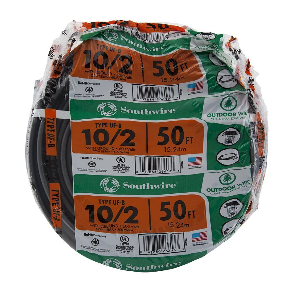 Southwire 13056722 10/2WG UF Wire 50-Foot