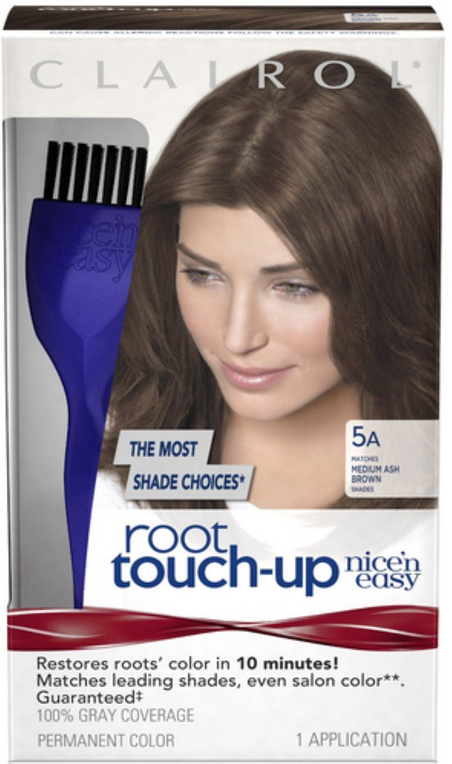 Clairol Nice 'n Easy Root Touch-Up 5A Medium Ash Brown 1 Kit (Pack of 3) by Clairol