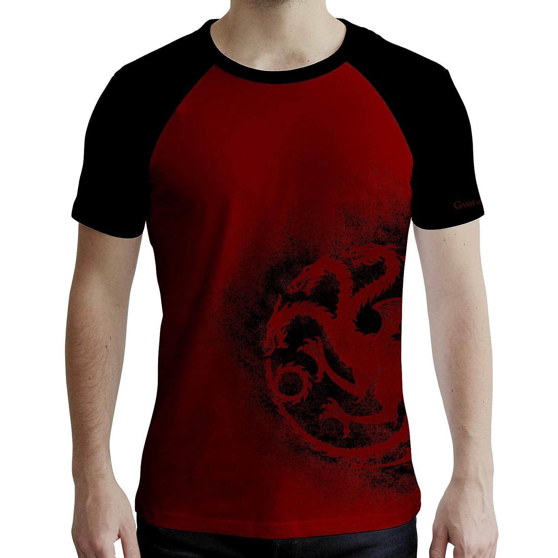 Game of Thrones Rosso e Nero Targaryen ABYstyle Uomo T-Shirt