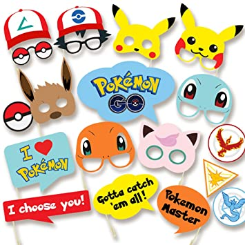 pokemon party supplies photo booth props suitable for birthday theme party great party ideas