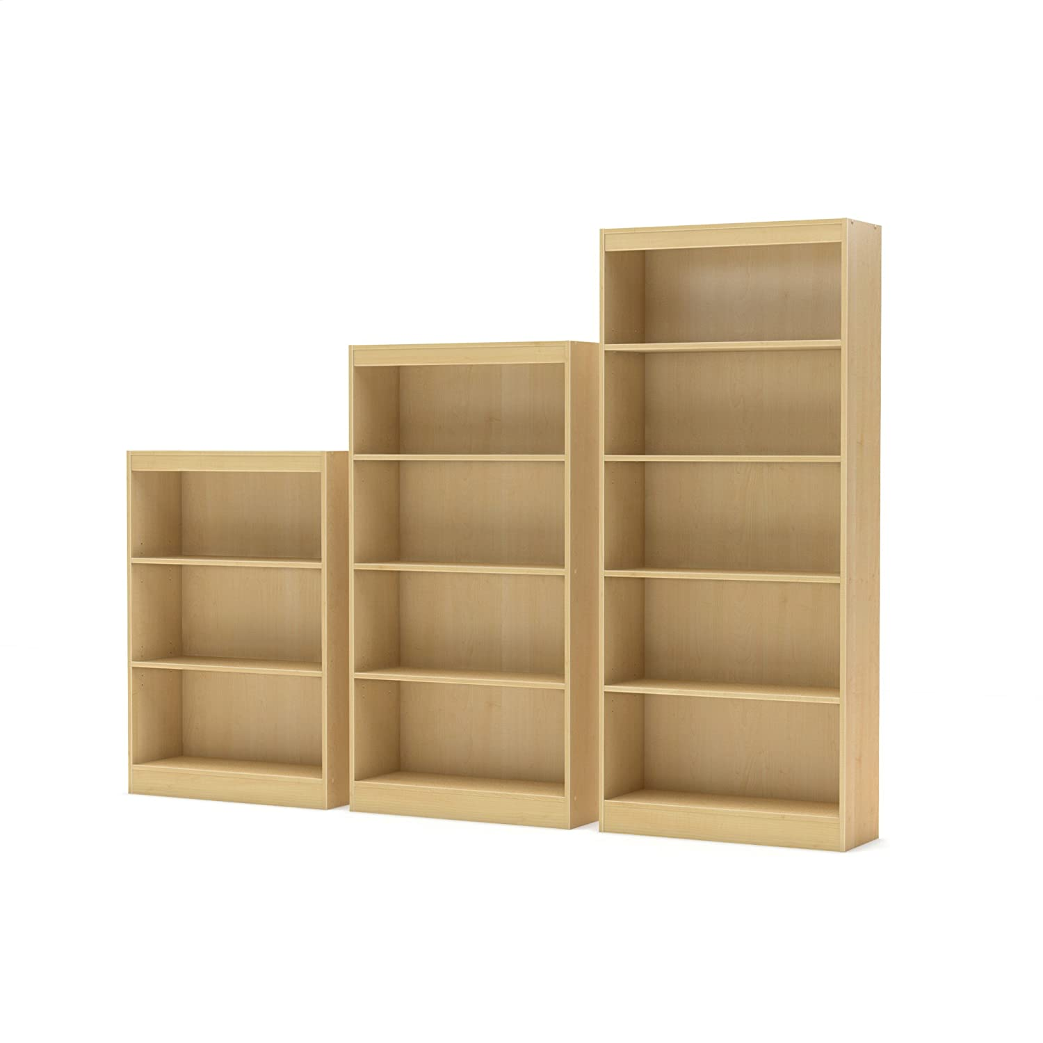 Amazon South Shore Axess Collection Bookcase Natural Maple