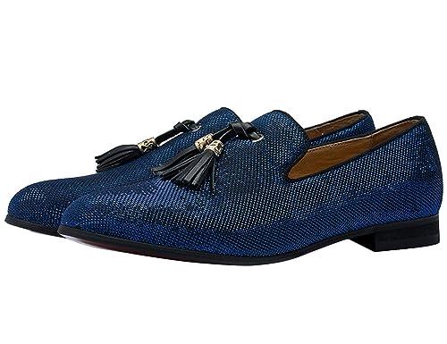 Mocasines para Hombre Vestido Zapatos Planos Brillante