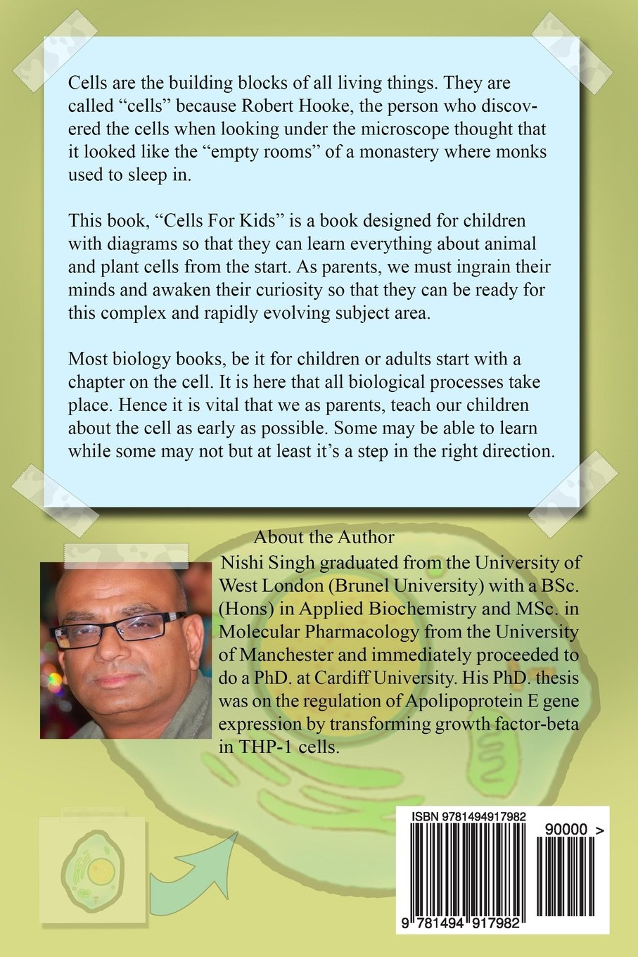 Cells For Kids Science Book Children Nishi Singh Plant Cell Diagram Labeled Structure 9781494917982 Books