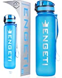 Leak Proof Sports Water Bottle 32 Ounce: Hydration Drink Bottles for Workout, Gym, Biking, and Cycling - Reusable Non-Toxic BPA Free Travel Waterbottle with Spill Proof Flip Top Cap and Infuser Insert