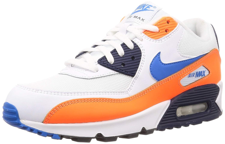 MultiCouleure (blanc Photo bleu Total Orange 104) 44.5 EU Nike Air Max 90 Essential, Chaussures de FonctionneHommest EntraineHommest Homme