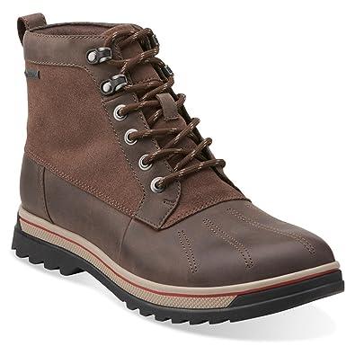 Men'S Clarks Grey Leather Ripway Gtx