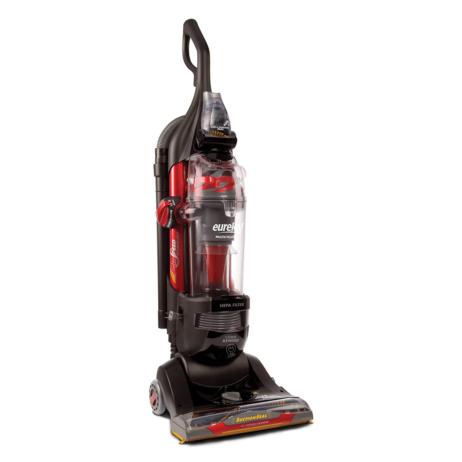 Amazon.com: Eureka SuctionSeal Pet Bagless Upright Vacuum, AS1104A: Home &  Kitchen