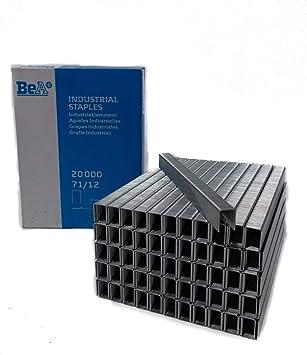 BeA 10000112 Series 71//10 Galvanized Steel Staples 3//8 deep 12 boxes of 20,000 per box
