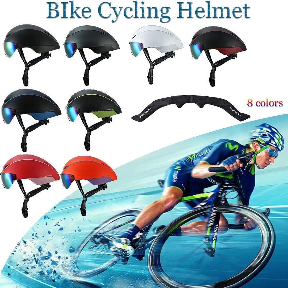 TOOAEYSE Triathlon VTT Route V/élo Casque V/élo Int/égralement Moul/é A/érodynamique Sport Cyclisme avec Lunettes Casco Ciclismo