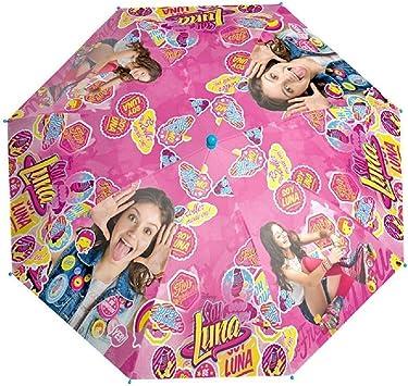 Soy Luna Paraguas Manual Smile Apertura Seguridad 42cm: Amazon.es: Juguetes y juegos