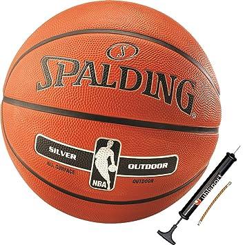 Spalding - Balón de Baloncesto NBA Silver Outdoor tamaño 6 ...