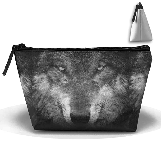 Amazon Makeup Bag Trapezoidal Storage Bag Wolf Eyes Hair