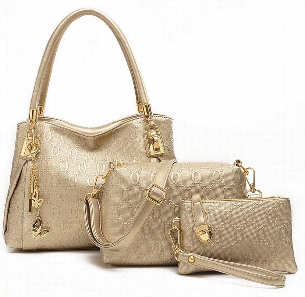 YTTY Damenmode Trend Dreiteilige Handtasche Handtasche Kuriertasche Groß Dreiteilig 3024, Gehen
