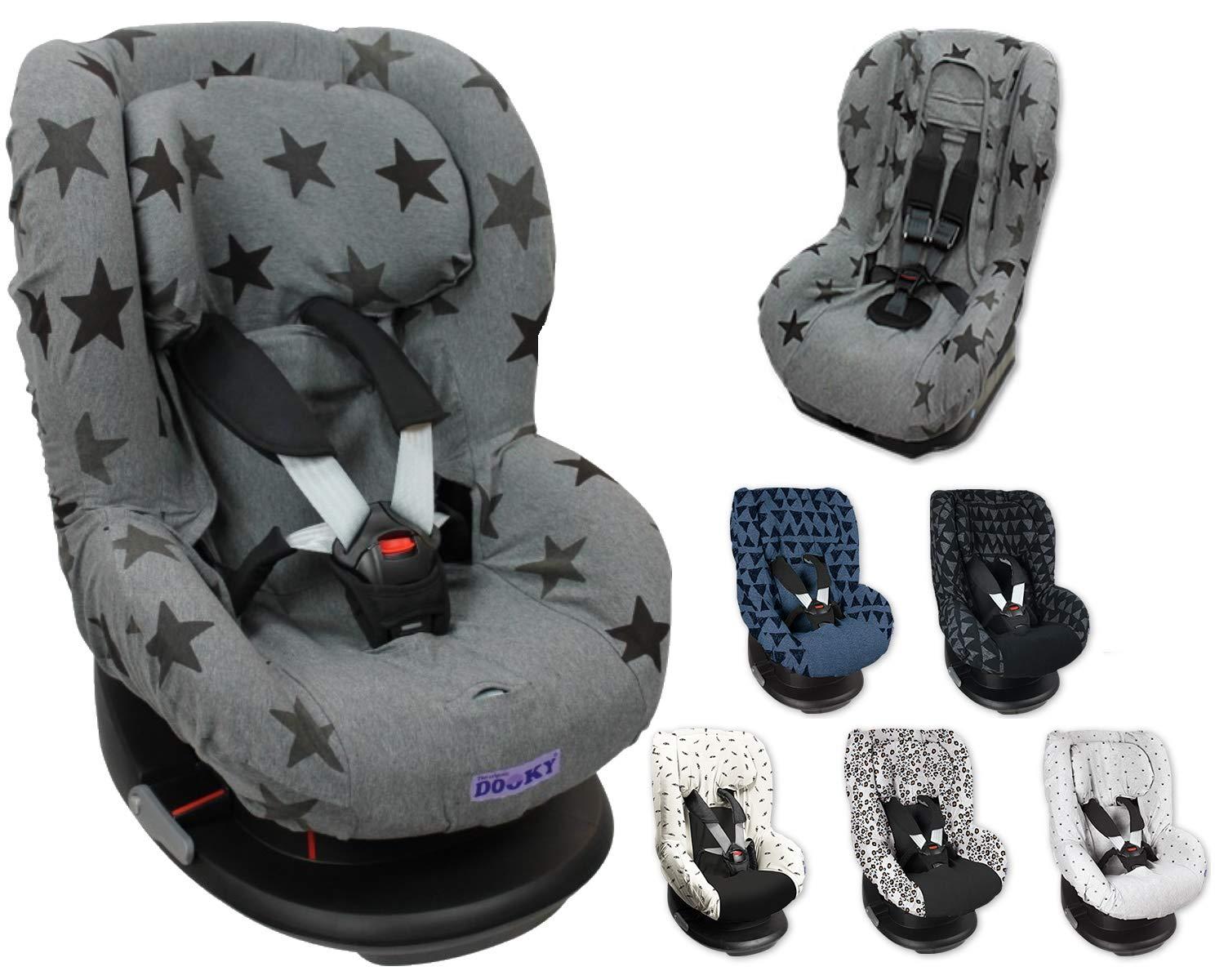 Original Dooky 2in1 Sitzbezug Universal Schonbezug Für Z B Maxi Cosi Tobi Und Sitze Der Gr 1 Grey Stars Baby