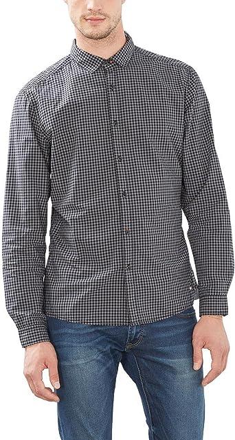 edc by ESPRIT 996CC2F900, Camisa Hombre, Negro (BLACK), Small ...