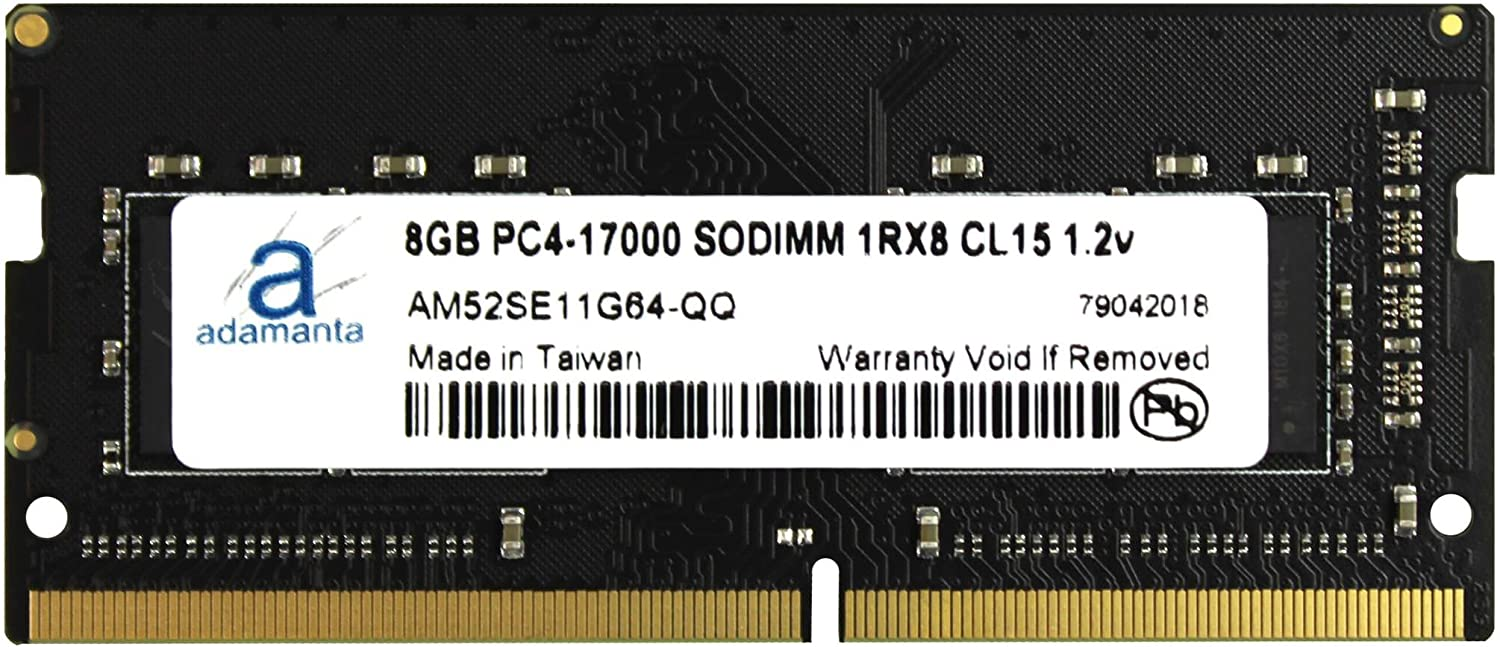Laptop Memory Upgrade for Acer Aspire V 17 Nitro 7-792G-75BF DDR4 2133 PC4-17000 SODIMM 1Rx8 CL15 1.2v Notebook RAM 1x8GB Adamanta 8GB
