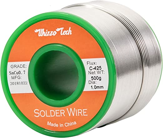 1 Roll Silver Flux Core Solder Wire 1.0mm Lead Free Sn99.3 Cu0.7 500g