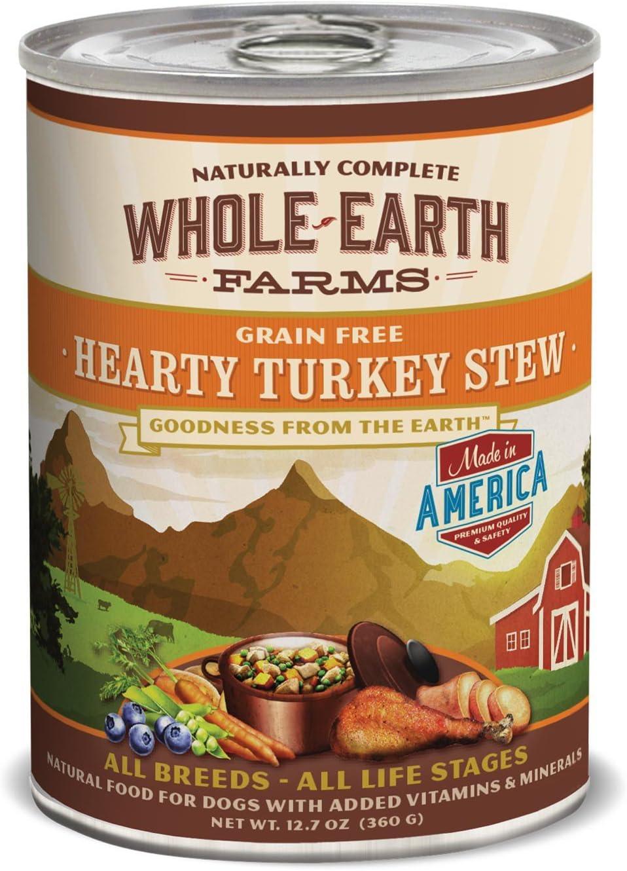 Merrick Whole Earth Farms Turkey Stew Can Dog Food 12pk