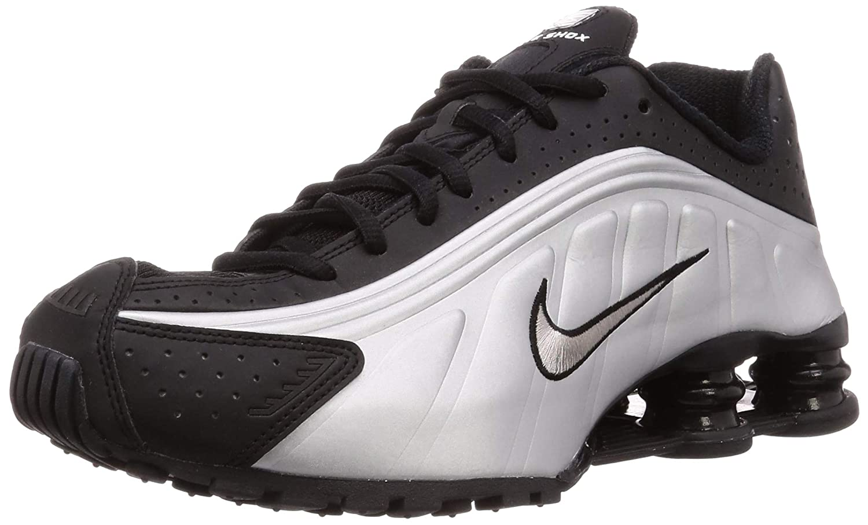 super popular 843a1 f63fb Amazon.com | Nike Shox R4 (Black/Black-Metallic Silver 8 ...