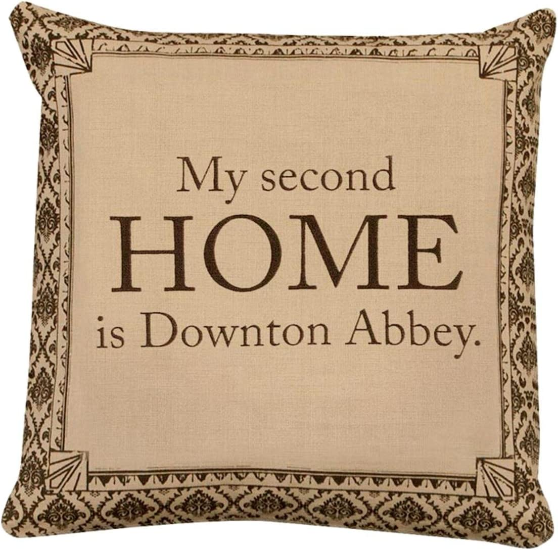18 Downton Abbey Life Second Home British Decorative Damask Square Throw Pillow Home Kitchen