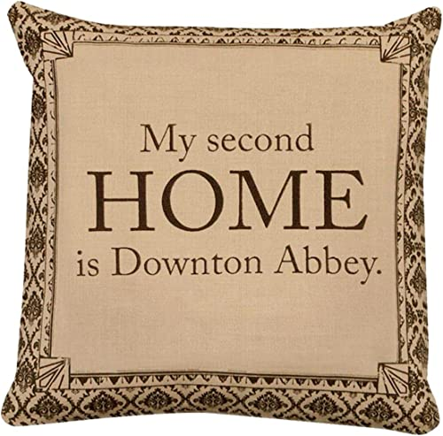 18 Downton Abbey Life Second Home British Decorative Damask Square Throw Pillow