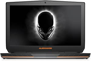 Alienware FHD ANW17-6429SLV 17.3-Inch Gaming Laptop (Intel Core i7 4710HQ, 16 GB RAM, 1 TB HDD, 128 GB SSD, Windows 8) Silver and Black