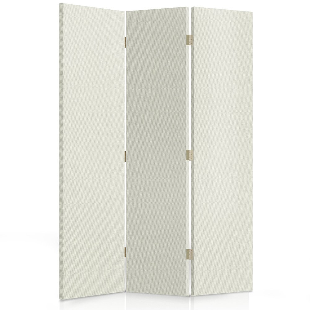 Feeby Frames, Fabric divider screen, Textile Paravent, Canvas Screen, Decorative Room Divider, Paravent, Double sided, 360°, 3 panels (110x150 cm) FABRIC, WHITE, GLAMOROUS