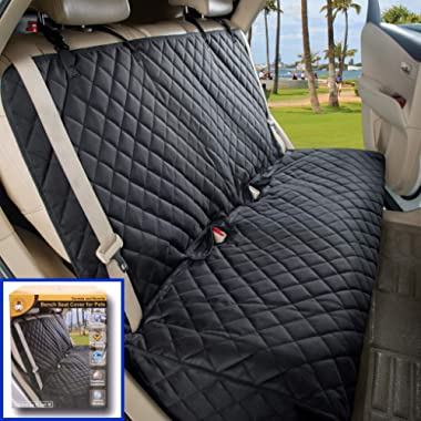 VIEWPETS Bench Car Seat Cover Protector - Waterproof, Heavy-Duty and Nonslip Pet Car Seat Cover for Dogs with Universal Size Fits for Cars, Trucks & SUVs