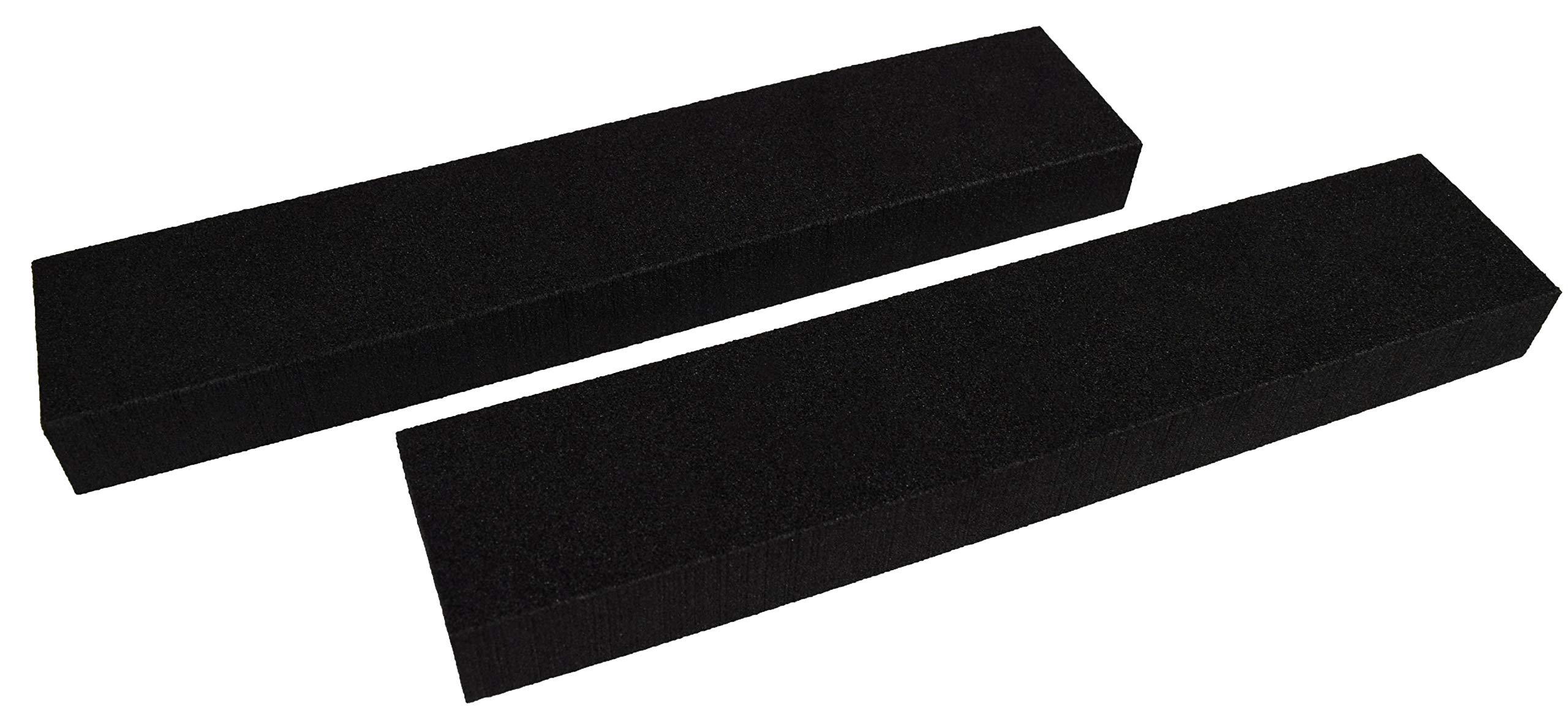 XCEL Power-Block Black Scruff Pad Sanding Block, Pack of 2, Size 11'' x 2'' x 1''